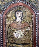 Oud or lute-family instrument at the Capella Palatina