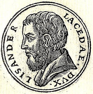 Lysander - Lysander as 'leader of the Lacedaemonians', engraved 1553.