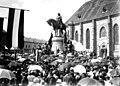 Mátyás király lovasszobra Kolozsváron 1902 avatás.jpg