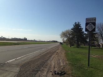 M-15 (Michigan highway) - M-15 in Merritt Township, looking southbound