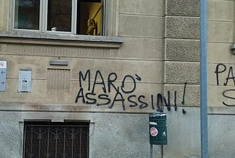 Enrica Lexie case - MARO' ASSASSINI (marines killers), graffiti in Turin