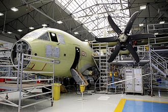 Alenia C-27J Spartan - A C-27J Spartan on the assembly line in Italy