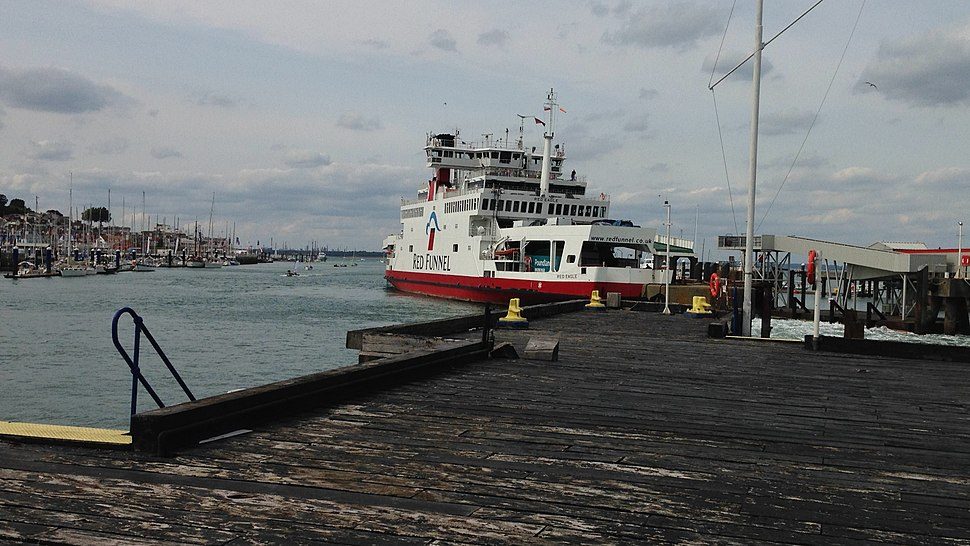MV Red Eagle departing from Red Funnel's East Cowes Terminal, 23 August 2018