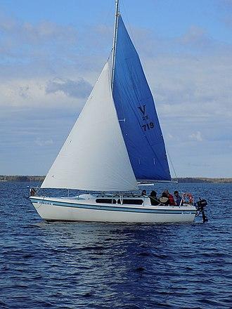 MacGregor 25 - Image: Mac Gregor 25 sailboat Jylona 1503