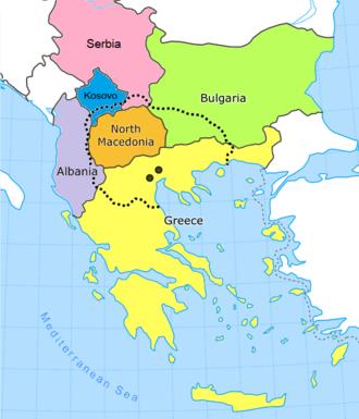 Macedonia - Image: Macedonia region map wikipedia