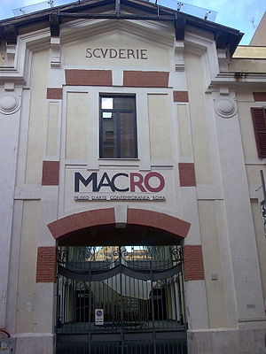 Museum of Contemporary Art of Rome - The façade of the former brewery on via Reggio Emilia