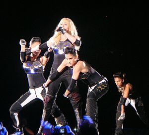 "Frozen (Madonna song) - Madonna and her dancers performing a remixed version of  ""Frozen"", during the 2009 leg of her Sticky & Sweet Tour"
