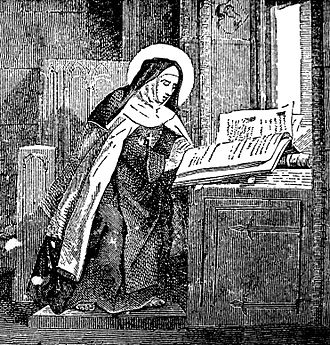Mary Magdalene de' Pazzi - An engraving of St. Mary Magdalene de' Pazzi from an 1878 book, Little Pictorial Lives of the Saints