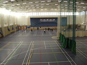 St Bede's School, Eastbourne - Inside the modern Multi Purpose Hall at the Senior School