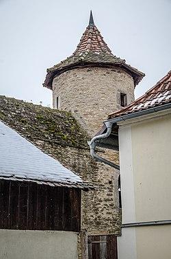 Mainbernheim, Kellergasse 1, Befestigungsturm-001.jpg