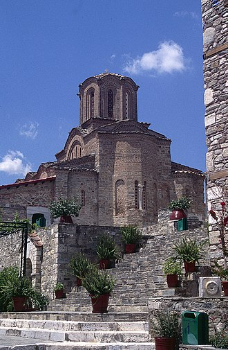 Thessaly - View of the Panagia Olympiotissa Monastery in Elassona