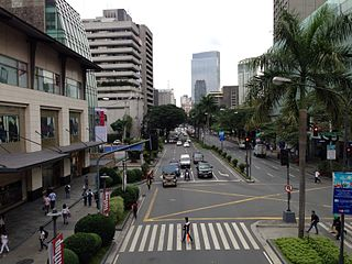 Makati Avenue road in the Philippines