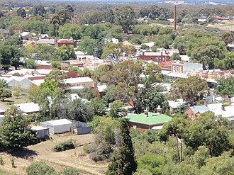 Maldon, Victoria - View of Maldon from the south west, 2009