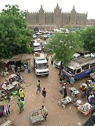 Djenné market and mosque