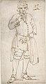 Man Smoking a Pipe (recto); Standing Man and Two Studies of His Head (verso) MET DP808198.jpg