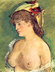 "Edouard Manet, ""Blonde Woman With Bare Breasts"""