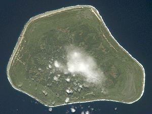 Mangaia - NASA picture of Mangaia Island