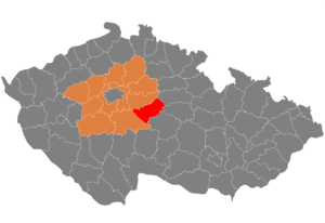 Kutná Hora District - Image: Map CZ district Kutna Hora