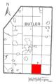 Map of Clinton Township, Butler County, Pennsylvania Highlighted.png