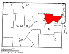Map of Glade Township, Warren County, Pennsylvania Highlighted.png
