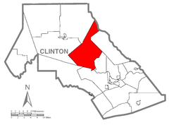 Map of Grugan Township, Clinton County, Pennsylvania Highlighted.png