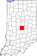 Map of Indiana highlighting Marion County.svg