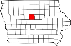 Map of Iowa highlighting Hamilton County.svg