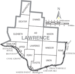 Municipalities and townships of Lawrence County