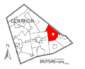 Map of Lebanon County, Pennsylvania Highlighting Jackson Township.PNG