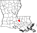 Map of Louisiana highlighting West Baton Rouge Parish.svg