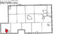 Map of Mahoning County Ohio Highlighting Sebring Village.png