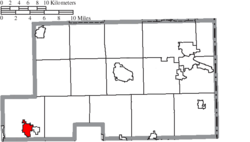 Location of Sebring in Mahoning County