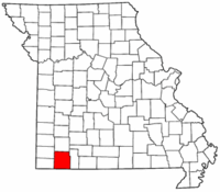 Map of Missouri highlighting Barry County.png