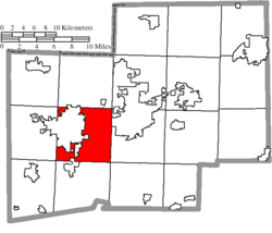 Location of Perry Township in Stark County