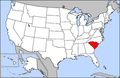 Map of USA highlighting South Carolina.png
