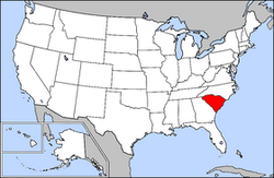 Map of USA highlighting South Carolina.png