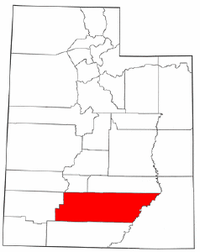 Map of Utah highlighting Garfield County.png