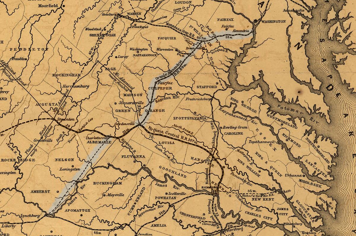 Orange and Alexandria Railroad Wikipedia