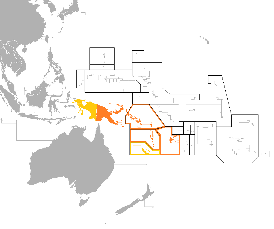 Mapa Melanesia