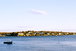 Marblehead Neck as viewed from the landing on State Street