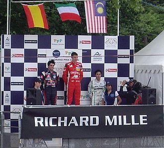 Raffaele Marciello - Marciello (center) after winning the 2012 Pau Grand Prix
