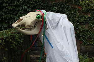 The Mari Lwyd. Photo by R Fiend [CC BY-SA 3.0]