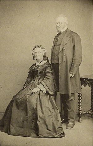 John Edward Gray - Gray with his wife Maria Emma, 1863