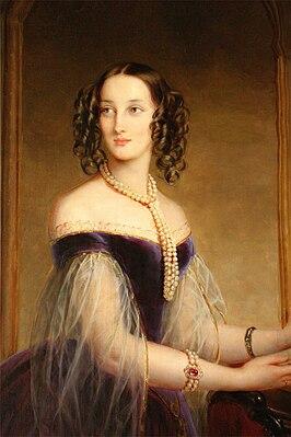 Maria Nikolaievna of Leuchtenberg by C.Robertson (1841, Hermitage) detail.jpg