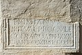 Maria Saal Mesnerei Abgang Grabinschrift Primianus und Valeria Procula 01032017 4821.jpg