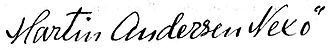 Martin Andersen Nexø - Image: Martin Andersen Nexø signatur