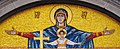 Mary and Jesus, mosaic (Belgrade Cathedral Church, Serbia).jpg