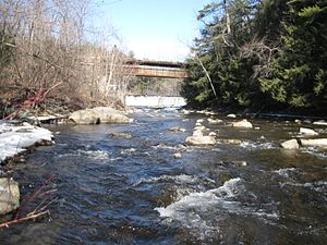 Mascoma River - Mascoma River in 2012 at Riverside Park, Lebanon, NH