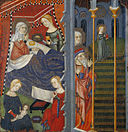 Master of Cinctorres - Birth of the Virgin and Presentation at the Temple - Google Art Project.jpg