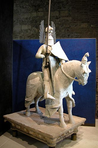 Mastino II della Scala - Statue of Mastino II della Scala. Once located on the top of his tomb, one of the Scaliger Tombs, it is now in the Castelvecchio Museum at Verona.